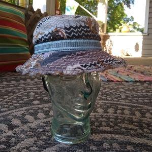 Pistil chevron print cotton unisex bucket hat